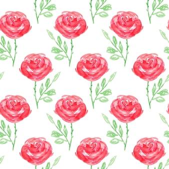 Бесшовный цветочный узор. ручная роспись розовых цветов. графический элемент для детского душа или свадебных приглашений, поздравительных открыток, печатных форм, обоев, скрапбукинга. векторная иллюстрация.