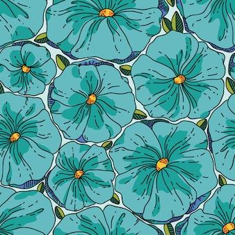 완벽 한 꽃 패턴입니다. 꽃과 그림입니다.