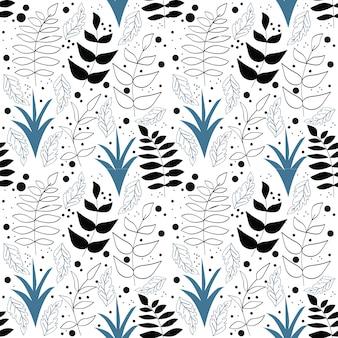 완벽 한 꽃 패턴 벡터