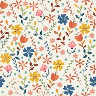 밝은 배경에 완벽 한 꽃 패턴