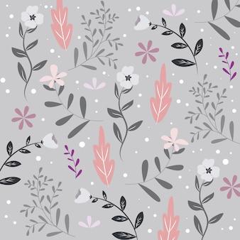 シームレスな花柄やテクスチャ