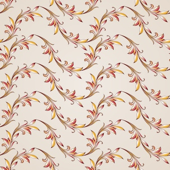 Seamless floral pattern in pastel shades