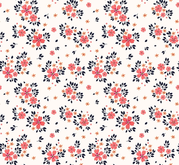 Seamless floral pattern for . small pink flowers. white background. template for fashion print