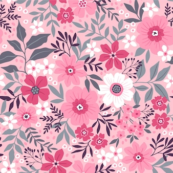 Seamless floral pattern . small pink flowers.