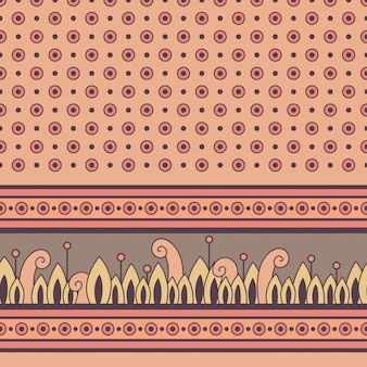 Seamless floral pattern with decorative border