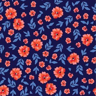 花とシームレスな花柄