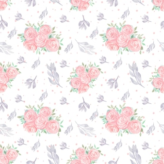 Seamless floral pattern with gorgeous flowers