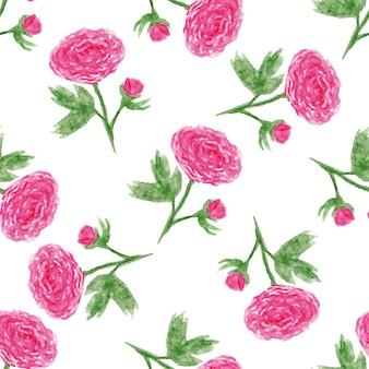 수채화 모란의와 함께 완벽 한 꽃 패턴