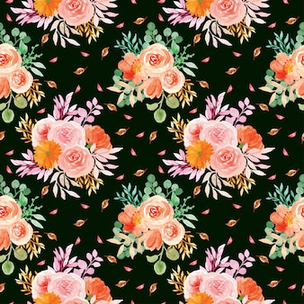 Бесшовный цветочный узор с романтическими цветами