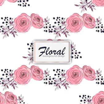水彩スタイルのバラのシームレスな花柄