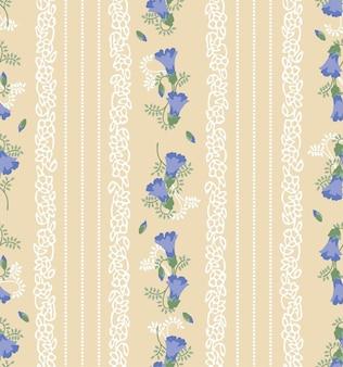 ベクトルの花とシームレスな花pattren。