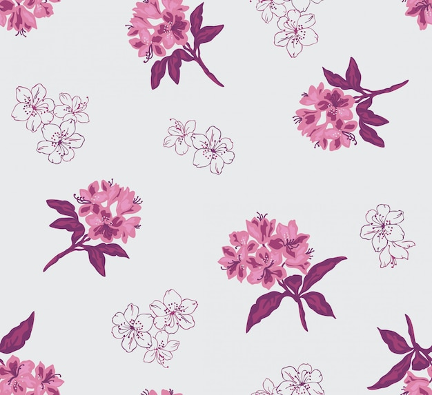 Seamless floral pattren with flower in vector.
