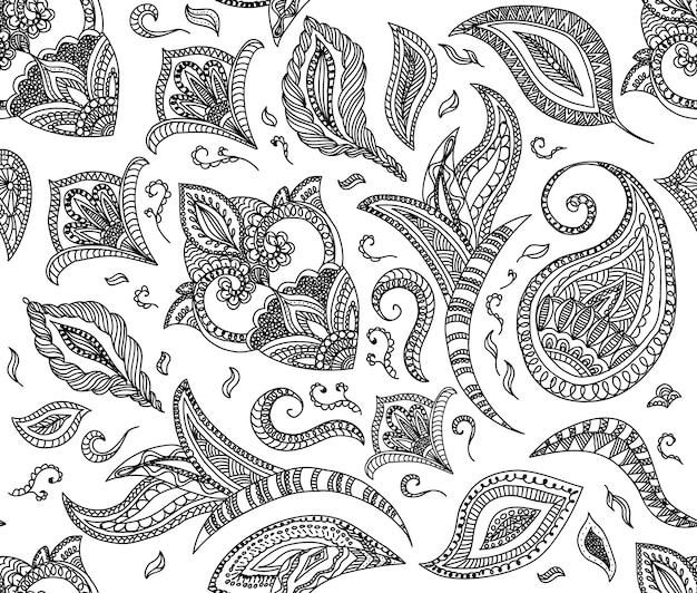 Seamless floral retro background pattern