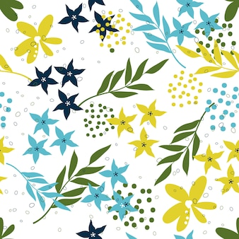 Seamless floral surface pattern