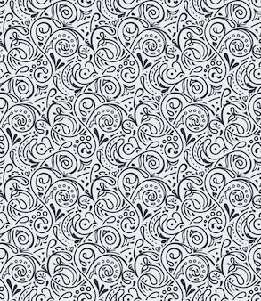 Seamless floral tile background pattern in