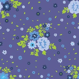 Бесшовные цветочные с узором маленькие цветы.