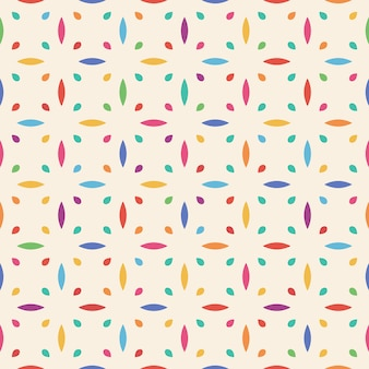 Seamless flower pattern. leaf and drop.