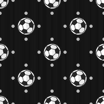 Seamless football with silver dot glitter pattern on stripe background