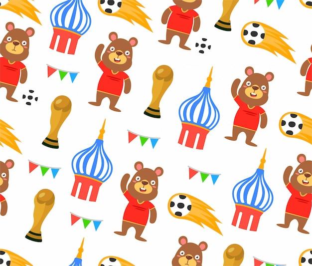 Seamless football world cup pattern