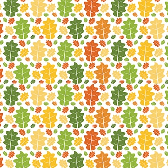 Seamless forest pattern atumn leaves.