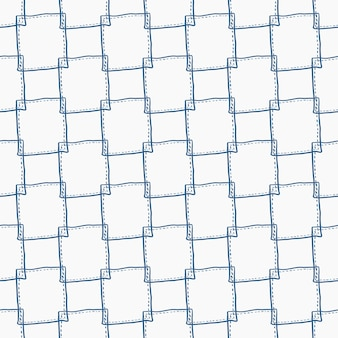 Seamless frabic pattern background with simple square shape