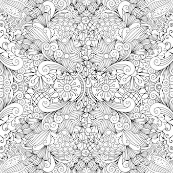 Seamless full frame kaleidoscope decoration