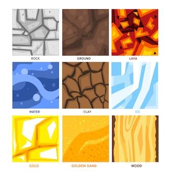 Seamless game patterns set