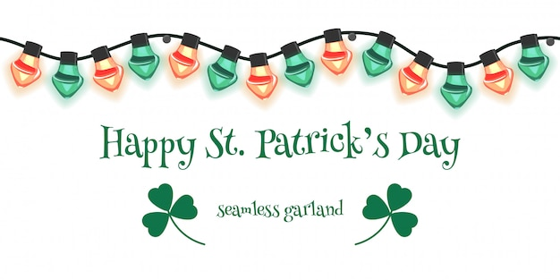 Seamless garland for st patrick's day.