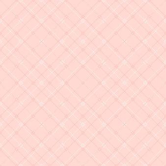 원활한 부드러운 핑크 다이아몬드 체크 도트 라인 패턴