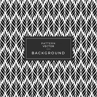 Seamless geometic pattern leaf texture black and white