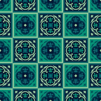 シームレスな幾何学的なアラベスクオリエンタルパターン。