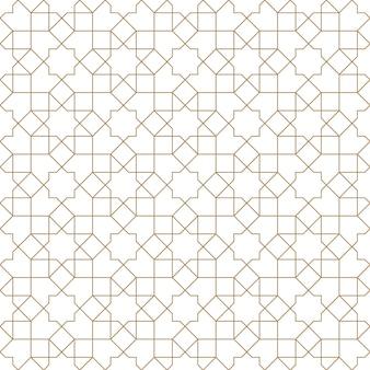 シームレスな幾何学的なアラビア語パターン