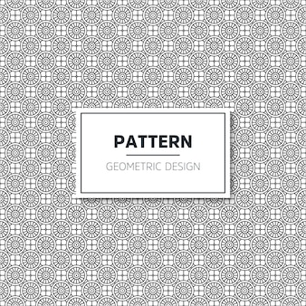 シームレスな幾何学的な黒と白のパターン