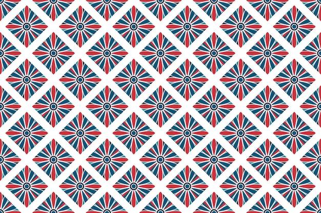 완벽 한 기하학적 화려한 배경 패턴