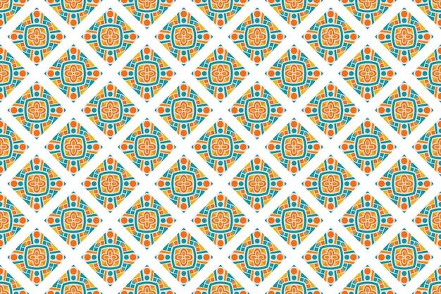Бесшовные геометрический красочный фоновый узор Premium векторы