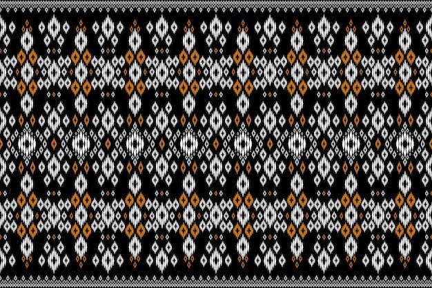 テクスチャとバッハグラウンドのためのシームレスな幾何学的な民族アジアの東洋と伝統のパターンデザイン。カーペット、衣類、ラッピング、壁紙用のシルクとファブリックのパターン装飾