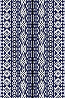 テクスチャと背景のシームレスな幾何学的な民族アジアの東洋と伝統のパターンデザイン。カーペット、衣類、ラッピング、壁紙用のシルクとファブリックのパターン装飾
