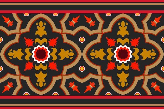 Бесшовные геометрический этнический азиатский восточный и традиционный узор для текстуры и bachground