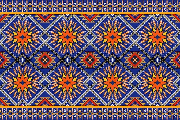 テクスチャとバッハグラウンドのためのシームレスな幾何学的な民族アジアの東洋と伝統のパターン