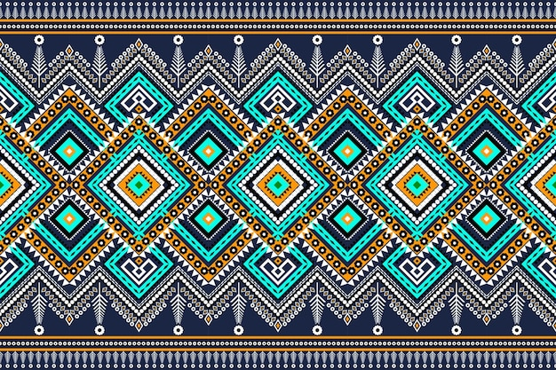Seamless geometric ethnic asian oriental and tradition pattern design for texture and background. silk and fabric pattern decoration for carpet, clothing, wrapping and wallpaper