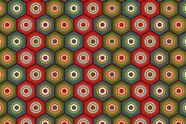 Seamless pattern geometrici groovy texture
