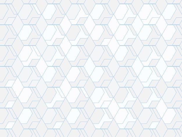 Бесшовные геометрический шестиугольник и ромб узор фона.