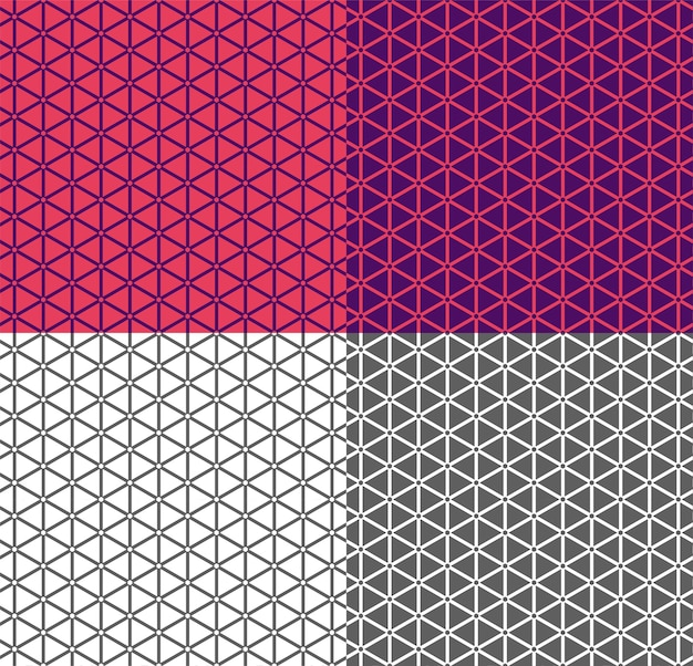 Seamless geometric line pattern with triangle. pink and violet linear background, ethnic ornament. endless monochrome texture for wallpaper, backdrop, textile, fabric. color inversion. simple shapes.
