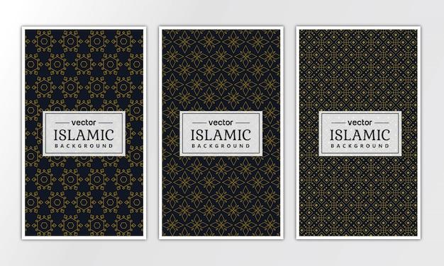 Seamless geometric luxury pattern collection