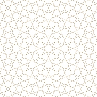 전통적인 아랍 예술을 기반으로 한 매끄러운 기하학적 장식입니다. 브라운 컬러 라인입니다. 직물, 섬유, 커버, 포장지, 배경을 위한 훌륭한 디자인입니다. 가는 선