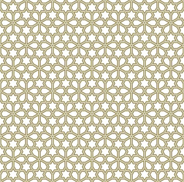 伝統的なアラビア語の芸術に基づくシームレスな幾何学的な装飾。イスラム教徒のモザイク。