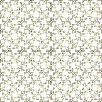 伝統的なイスラム美術に基づいたシームレスな幾何学的な装飾。茶色の輪郭の線。ファブリック、テキスタイル、カバー、包装紙、背景に最適なデザイン。