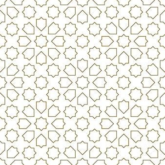 Бесшовные геометрический орнамент на основе традиционного исламского искусства. коричневые цветные линии. отличный дизайн для ткани, текстиля, обложки, оберточной бумаги, фона.