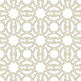 Бесшовные геометрический орнамент на основе традиционного исламского искусства. отличный дизайн для ткани, текстиля, обложки, оберточной бумаги, фона. контурные линии.