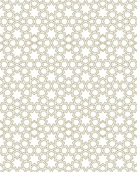 伝統的なイスラム美術に基づいたシームレスな幾何学的な装飾。ファブリック、テキスタイル、カバー、包装紙、背景に最適なデザイン。輪郭のある線。